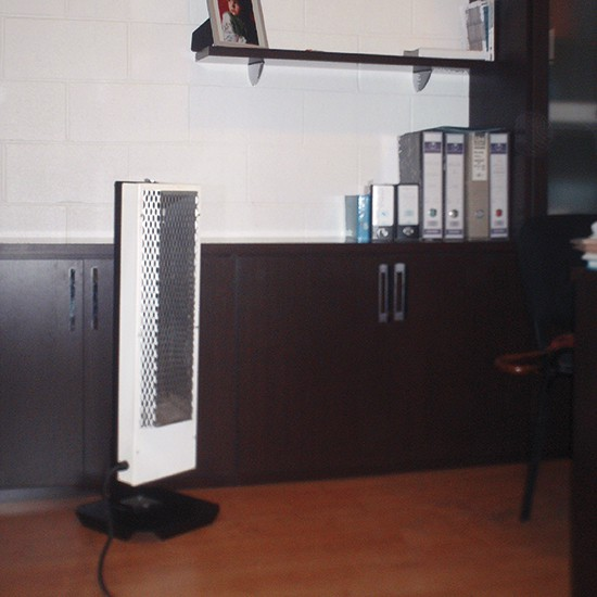 estufa eléctrica en oficinas